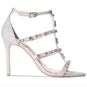 BADGLEY MISCHKA || Silver Jewel Heels